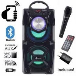 INFOKIT CAIXA BLUETOOTH 12W TORRE SUPER BASS COM VISOR SD/USB/FM VC-M867BT
