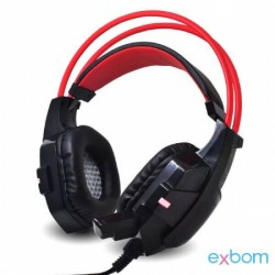EXBOM GH-X20 HEADFONE GAME COM MICROFONE LUZ LED C