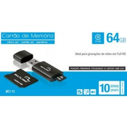 3X1: PENDRIVE + ADAPTADOR SD + MC115 64GB