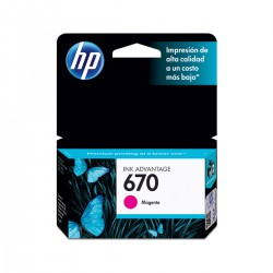 CARTUCHO 670 MAGENTA -  4ML- HP