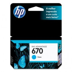 CARTUCHO 670 CIANO -  4ML- HP