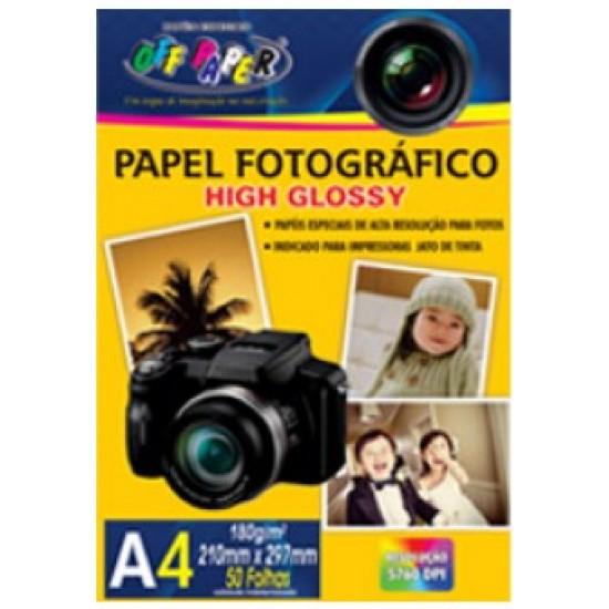 PAPEL FOTOGRAFICO A4 180G 50 FLS  OFF PAPER