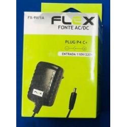 FONTE ALIM. 9V 1A BIVOLT P4 (5.5X2,1) FX-9V/1