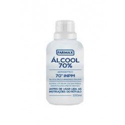 ALCOOL LIQUIDO 70% COSMETICO TEMP. FARMAX 12X100ML*