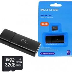 2X1: LEITOR USB + CARTAO DE MEMORIA CLASSE 10 32GB