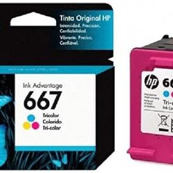 CARTUCHO HP 667 TRICOLOR 3YM78AL