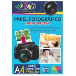 PAPEL FOTOGRAFICO A4 240G 50 FLS OFF PAPER