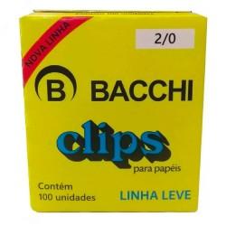 CLIPS 2/0 GALV LEVE CX 100 UNID BACHI