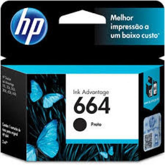 CARTUCHO HP F6V29AB N664 PRETO