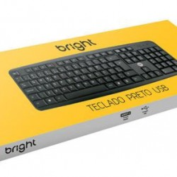 TECLADO PRETO USB BRIGHT 0014