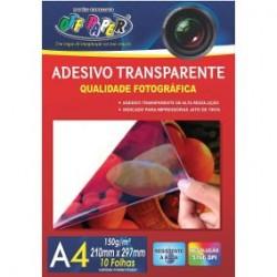 ADESIVO TRANSPARENTE A4 150G 10 FLS
